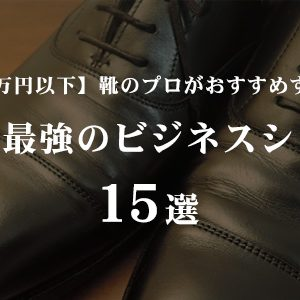【1万円以下のビジネスシューズ】靴のプロがおすすめするコスパ最強のビジネスシューズ15選